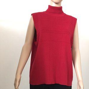 Sweaters - Sleeveless Turtleneck Sweater